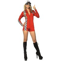 Red Racer Short Sexy Womens Costume Adult Halloween Outfit ? Small, Dress Size 4-6 SMA