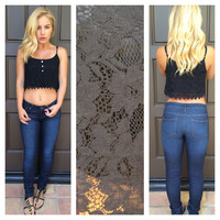 Lovely lace crop tank