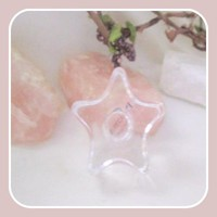 Glass Star Chime Candle Holder