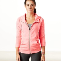 AEO Performance Solid Zip Hoodie | American Eagle Outfitters