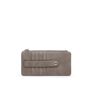 Leah Card Holder Wallet in Clay