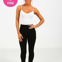 Bliss Black Fleece Lined Leggings