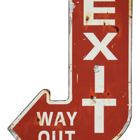 Exit Iron Plaque