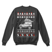DCCKON7 Jeep Brings Christmas Home Ugly Sweater