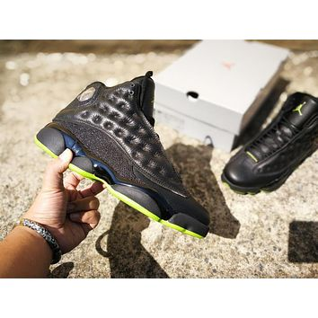 Air Jordan 13 Retro Black/Green ¡°Altitude¡± Basketball Shoe