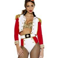 Toy Soldier Cropped Jacket & High Waist Shorts Costume