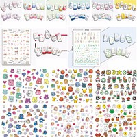 New Cocoa Cartoon Princess Theme 3D Sticker Puppet Lovely Home Birthday Party Supplies DIY Wall Nail stickers Kid Friends Gifts