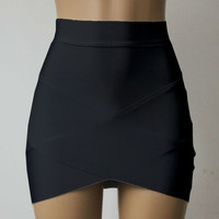 Low Elasticity Multi Color Sexy Micro Mini High Waist Pencil Skirts Casual Club Tight Bandage Bodycon Skirt