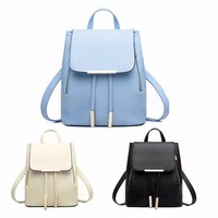 New Korean PU Leather Women's Backpack Schoolbag Female Backpacks Women High Quality Rucksack Ladies Knapsack Mochilas Feminina