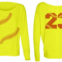 Personalize a Softball Fashion Top for Softball Moms or Players