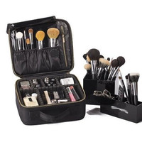 Mini Makeup Train Case with Portable EVA and freely combined Gift