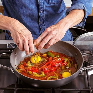 """GreenPan Chatham Ceramic Nonstick Covered 11"""" Pan with Helper Handles"""