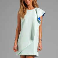 Cynthia Rowley Frosted Silk Dupioni Dress in Mint/Blue from REVOLVEclothing.com