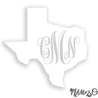 State Yeti Decal/ State Decal/ State Car Decal/Yeti Tumbler Decal / Custom Yeti Decal / Yeti Monogram Decal