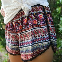 Mia Gypsy Red Shorts