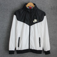 Fashion NIKE Hooded Zipper Cardigan Sweatshirt Jacket Coat Windbreaker Sportswear Full color