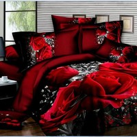 3d Rose bed set bedding sets