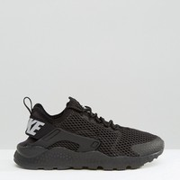 Nike Black Air Huarache Run Breathe Trainers at asos.com