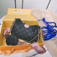 LV Louis Vuitton Tote Bags Women's  Handbag Shopping Leather Crossbody Satchel