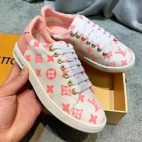 Bunchsun Louis Vuitton LV Fashionable Women Casual Sneakers Sport Shoes