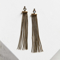 Faye Fringe Front/Back Earring - Urban Outfitters