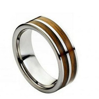 Tungsten Wedding Band Tungsten Engagement ring for Men by RoseOwl