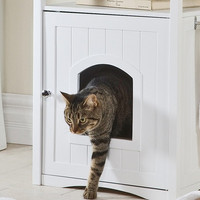 Cat Washroom Litterbox Cover and Nightstand Pet House