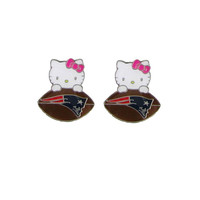 New England Patriots Hello Kitty Earrings