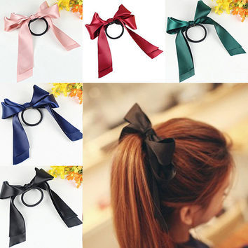 LNRRABC Women Headwear Ribbon Bow Rope Elastic Hair Band Girl Hair Accessories accesorios para el pelo hair rubber hair tie