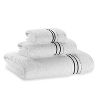 Wamsutta® Hotel Micro-Cotton Bath Towel in White/Grey