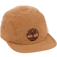 Timberland Faux Suede 5 Panel Quilted Flat Brim Cap (Gingerbread)