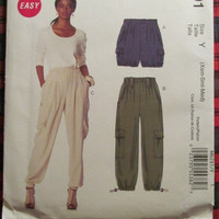 SALE Uncut McCall's Sewing Pattern, 6291! Extra Small/Medium/Women's/Misses/Shorts/Cargo Pants/Pull On Shorts/Summer/Spring/winter/Fall