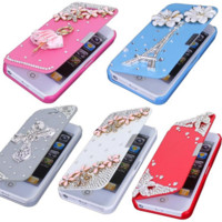 Luxury Magnetic Case for Apple iPhone 5g 5s Book flip style thin iPhone 5g 5s 6 Styles Available