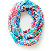 Lilly Pulitzer Riley Infinity Loop Scarf - Let Minnow
