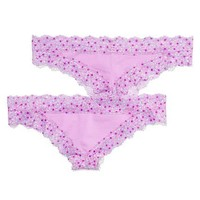 Lace Trim Mini Cheekster Panty - PINK - Victoria's Secret
