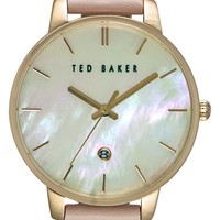 Ted Baker London Leather Strap Watch, 40mm | Nordstrom