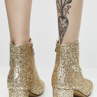 Golden Space Oddity Glitter Boots