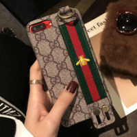 Trendy Gucci Bees Embroidery Iphone X 8 8 Plus Cover Case