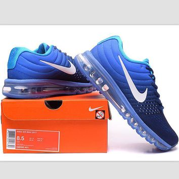 """""""NIKE"""" Trending Fashion Casual Sports Shoes AirMax section Blue white hook"""