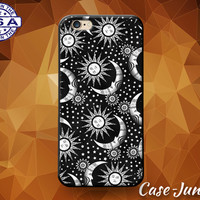 Sun And Moon And Stars Pattern Boho Cute Tumblr Art Custom Case For iPhone 4 and 4s and iPhone 5 and 5s and 5c and iPhone 6 and 6 Plus +