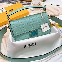 Fendi embossed double F letter women shoulder bag crossbody bag
