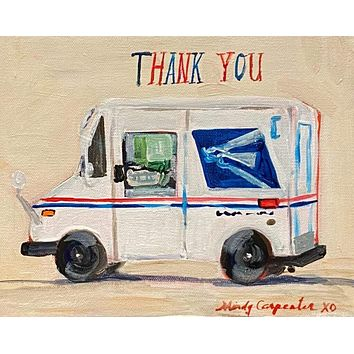 Thank You USPS Truck Greeting Card
