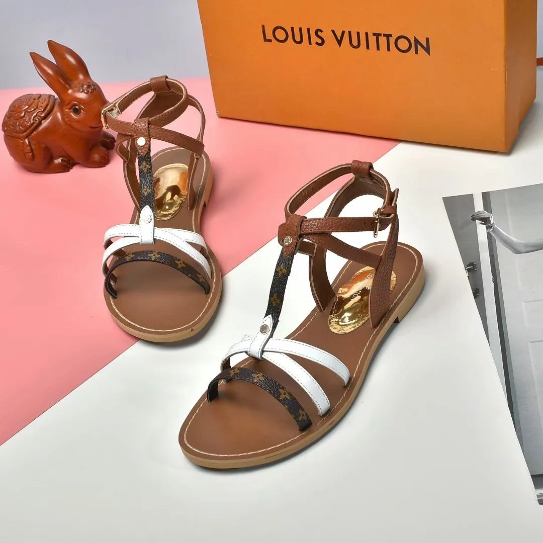 Image of LV Fashion Men Women's Casual Running Sport Shoes Sneakers Slipper Sandals High Heels Shoes