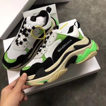 Simple-Balenciaga Men's Embroidery Leisure Sports Shoes black white green Shoes Top Quality 7US  8 US,9   US,10 US,11 US