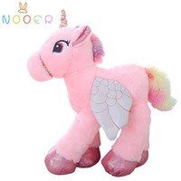 Nooer new creative unicorn plush toy flying horse with wings animals stuffed pillows children's birthday gift presents soft doll