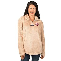 Texas A&M Linden Sherpa Pullover in Sand by Lauren James