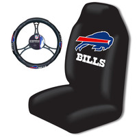 Buffalo Bills Car Seat Cover and Steering Wheel Cover Set
