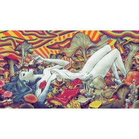 "Psychedelic Trippy Art Art poster 43 x 24"" / 24 x 13"""
