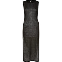 River Island Womens Black side split maxi tank