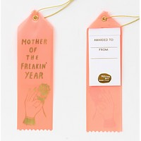 Mother of the Freakin' Year Award Ribbon in Peach
